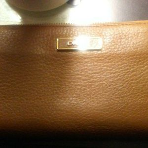 DKNY Donna Karan Saffiano Leather Zip Around